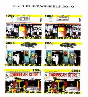 Postzegels Rumshops Aruba 2010